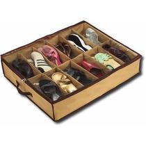 2 Organizador De Zapatos Bajo Cama Para 12 Pares De Calzados