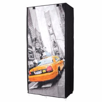 Guardarropas Estantes Tela 75x45x160cm New York Microcentro