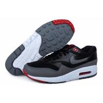 Zapatillas Nike Air Max 87 Negras Con Gris. En Caja