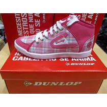 Zapatillas Botita Mujer Lona Mod.perfection Hi Lace Dunlop