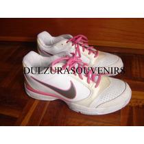 Zapatillas Nike Mujer Rosa Zoom Courtlite Talle 40,5 Cuero
