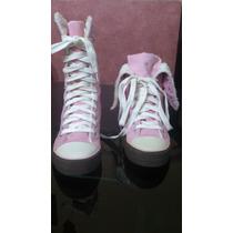 Zapatillas Botitas 47 Street Rosa Con Piel, Nº 37 Nuevas