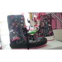 Zapatillas Media Caña Barbie Y Monsterhight