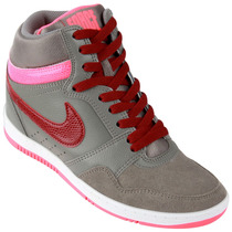 Zapatillas Nike Force Sky High (gris+bordó) Ultimo Talle!!!