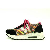 Zapatillas Sneakers Con Plataforma - Ultima Moda