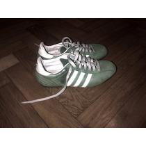 Zapatillas Cuero Verdes Adidas Vintage