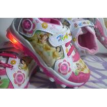 Zapatillas Con Luz Con Personajes Disney Angry Birds Princes