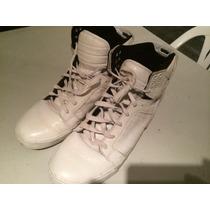 Zapatillas Supra Original Muska 001 Cuero Blancas - Hombre
