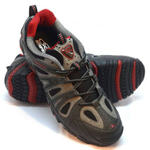 Zapatillas Olympikus Modelo Outdoor Direction Gris/bordó