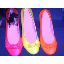 Balerinas De Colores Fluo Naranaja 37
