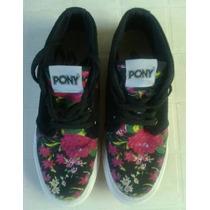 Zapatillas Pony Dama Nº 39 Botita-excelente Diseño-sin Uso!!