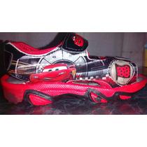 Sandalias Zapatillas De Cars Rayo Mc Queen Con Luz Importada
