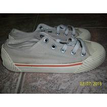Zapatillas Acordonadas De Lona Grisino, Talle 32
