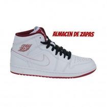 Zapatillas Nike Jordan Air 1 Mid White Red Hombre