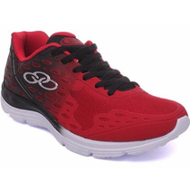 Zapatillas Olympikus Modelo De Niños Running Hype Rojo/negro