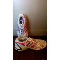 Zapatillas Mujer Adidas Blancas Y Rosa Sequence Adiprene T41