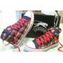Zapatillas Botitas Jaguar De Lona Escocesas N° 35 !!!