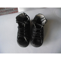 Zapatillas Mimo Negras Unisex Suela 19 Cm (28)