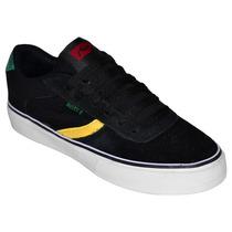 Zapatillas Rusty Asil Negro Rasta Hombre Skate Rz000503