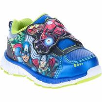 Zapatillas Avengers Luz Luces Disney Import Usa, V. Crespo