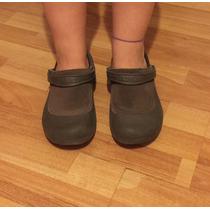 Zapatillas Mujer Crocs Importadas Detalle En Cuero