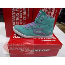 Zapatillas Botita Mujer Lona Mod Flower Hi Dunlop Original