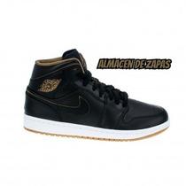 Zapatillas Nike Jordan Air 1 Mid Black Hombre