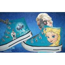 Botitas Pintadas/customizada Personalizadas Frozen