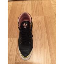 Zapatillas Adidas Top Ten Hi Sleek Up W Negro C/dorado