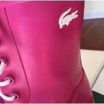 Botas De Lluvia Lacoste - Color Rosa! Exclusivas.importadas.