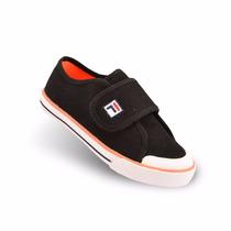 Zapatillas Fila Baby 3 Infantil Negro Y Naranja