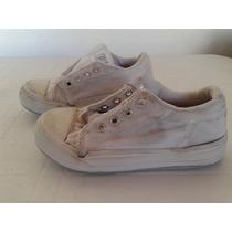 Zapatillas Blancas Lona Toot Talle 31