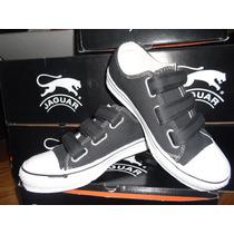 Zapatillas Jaguar Con Abrojos De Lona.
