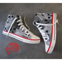 Zapatillas Lona Pintadas A Mano, Diseños Originales, Botitas