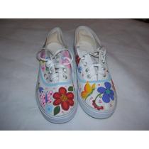 Zapatillas Y Panchitas Pintadas A Mano Niños Niñas