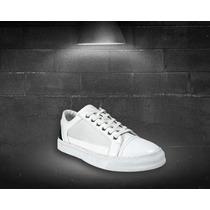 Zapatillas Importadas Blancas Detalle En Negro - Relax Multi