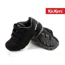Zapatilla Kickers Strech Velcro Colegial Niños