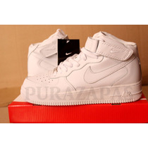 Zapatillas Air Force One Mid White