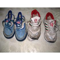 Lote 2 Pares Zapatillas Niño Niña Bubblegummers Adidas Blanc