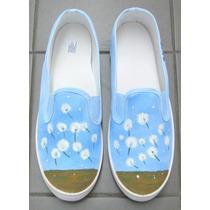 Zapatillas Panchas Personalizadas Pintadas Talle 37