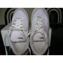 Zapatillas Niña De Cuero Blancas Topper