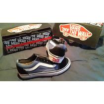 Zapatillas Vans-old Skool Navy Black/blue¡oferta Imperdible!