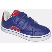 Zapatilla Con Abrojo Heyday Niños 23 Al 29 Color Azul