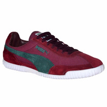 Zapatillas Puma Squash 2000 Bordo Verde 46986207