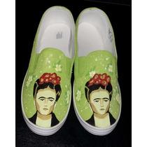Zapatillas Panchas Personalizadas Pintadas Talle 36 Frida
