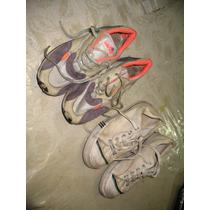 Lote 2 Zapatillas Adidas Niño Blancas 33 Ellese Con Naranja
