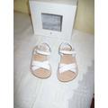 Sandalias De Cuero Blancas De Minimimo N°20 C/ Caja