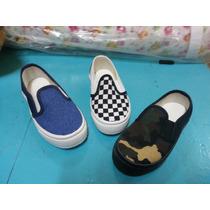 Zapatillas Panchas De Lona Para Niños, Varon, Mujer