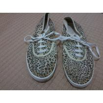 Zapatillas Tipo Lona Talle 38- Animal Print