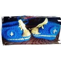 Zapatillas Escarpines Al Crochet Boca River Racing